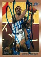 Shandon Anderson Autographed Signed 1999 Topps Utah Jazz Card - NBA - COA