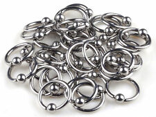10pcs Wholesale Stainless Steel Body Jewelry Lip Tongue Belly Captive Bead Rings