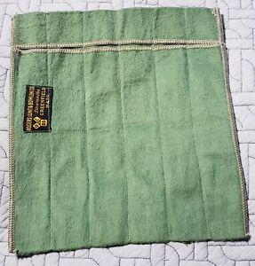 VINTAGE GREENFIELD MASSACHUSETTS SILVERWARE GREEN FELT POUCH BAG