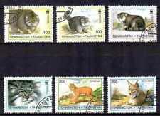 Tajikistan 1996 felines (53) Yvert n° 86 à 89 et PA 90+91 obliterated used