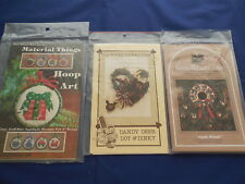 Lot of Vintage Christmas Patterns for Ornaments & Wreaths