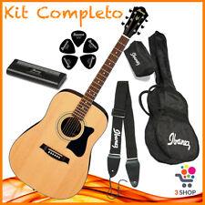 Chitarra acustica IBANEZ 6 corde set borsa custodia plettri accordatore tracolla