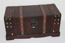 274 Holztruhe Box Kolonial Schatzkiste Holzkiste Antikdesign 37x18x18