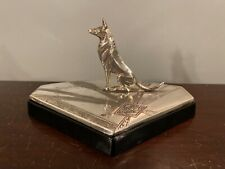 Weidlich Bros 1920s Art Deco Silverplate & Glass German Shepherd Dog Vanity Box