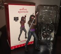 The Walking Dead MICHONNE Action Figure Hallmark Keepsake Ornament Christmas NEW