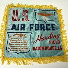 VTG WW2 Satin Pillow case sham Harding Field Baton Rouge US Army Air Force  - P9