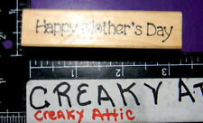 HAPPY MOTHER'S DAY RUBBER STAMP DARCIES SMALL