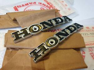 NOS OEM Honda TS50 DX TS50DX SL CL CB 175 350 100 CB125K3 Fuel Gas Tank Emblem
