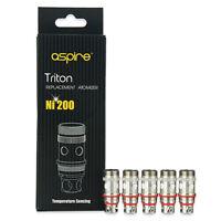 Aspire® Triton™ / Atlantis™ Coils | 5 PACK Ni200 TC | UK STOCK | 100% Authentic