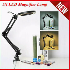 5X LED Magnifying Lamp With Clamp Craft Glass Loupe Lab Work Light Magnifie*ws