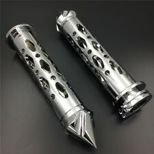 For Yamaha YZF R1 R6 R6S CHROME CNC 7/8'' Hand Grips with spike bar ends