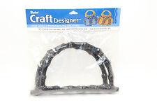 Darice Craft Designer Crafting Black Plastic Purse Handles Faux Bamboo 2 Pcs