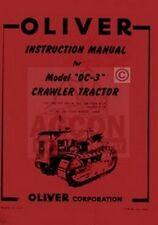 Oliver Oc 3 Oc Crawler Tractor Operators Service Manual