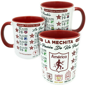 America De Cali Historia Mug, Colombia Futbol Soccer Taza Gift Souvenir Cup
