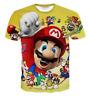 New Fashion Women/Men Super Mario Bros Smoking 3D Print Casual T-Shirt TK120