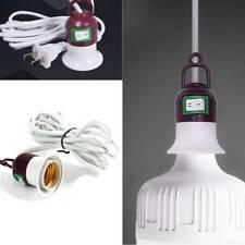 E27 Edison Screw Light Lamp Bulb Holder Socket Switch Power US Plug Cable Cords