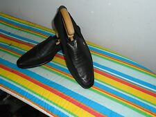 Men's ROBERTO BOTTICELLI Hecho En Italia Cuero Negro Slip Ons Shoes Size UK 7
