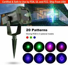 Eva Logik Mini Outdoor Waterproof Laser Projector Light- RGB 20 Patterns