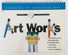 Art Works Stenciling Kit Art Instruction Stencil Sheets Kids Book