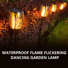 More details for 4x solar power torch light waterproof flame flickering dancing garden lamp