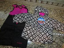 NEW COLUMBIA BUGA SET SNOWSUIT SET BABY GIRL 6-12 MONTH 2 PIECE BLACK  FREE SHIP