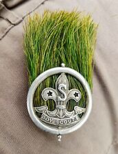 More details for boy scout hat & hat badge plume scoutmaster scouts