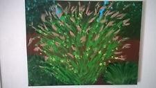 art, Garden,  12in x 16in, acrylic on canvas 2016 sold by artist