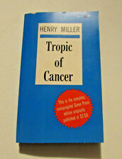 TROPIC OF CANCER by Henry Miller, vintage 1961 1st Black Cat Edition/10th print
