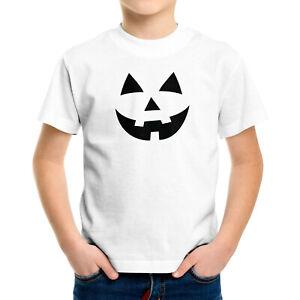 Halloween Pumpkin Jack O Lantern Face Funny Spooky Toddler Kid Youth Tee T-Shirt