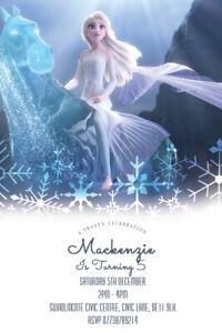 Personalised Disney's Frozen Birthday Party Invitations Frozen Elsa and Anna V21