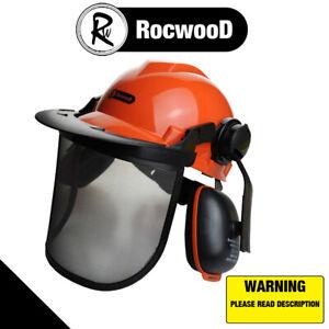 Chainsaw Safety Helmet Metal Mesh Full Visor Forestry