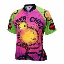 Biker Chick on a Bike Women's Short sleeve Half zip cycling jersey
