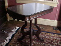 Exceptional American Victorian Marble top Table  C.1870