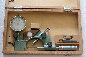 Vintage German 3 Flute Indicating Micrometer - 0-25mm - Suhl DDR