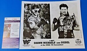 SHAWN MICHAELS & DIESEL KEVIN NASH SIGNED 8x10 PHOTO WWF WRESTLING ~ JSA #L10853