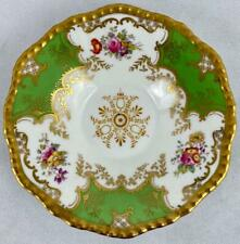 "Green Antique Coalport Batwing 2665~5 & 1/2"" Saucer~Gold Gilt~c1891~Porcelain"