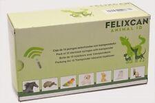 10x felixcan animale microchip chip RFID ISO-transponder CANE GATTO
