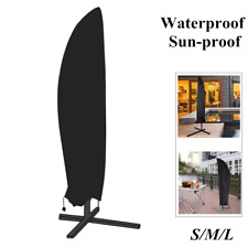Zipper Umbrella Cover Waterproof Patio Outdoor Garden Cantilever Parasol Protect