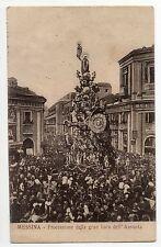 MESSINA PROCESSIONE DELLA GRAN BARA ASSUNTA CARTOLINA ANIMATA 1920/30