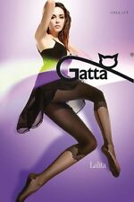 GATTA Lalita Tights Black Patterned Fancy S Lycra NERO Luxury