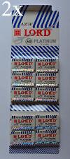 Lord Platinum Double Edge Safety Razor Blades (20 Packs/100 Blades)