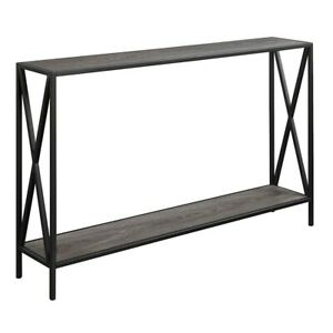 Convenience Concepts Tucson Console Table, Weathered Gray - 161899WGY