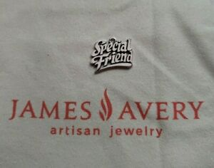 James Avery Retiring Design 925 Sterling Silver Special Friend Charm