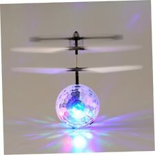 Infrared Induction Flying Flash Disco Colorful LED Ball Helicopter Child Toy ##
