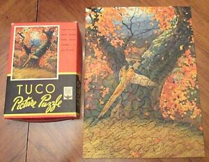 Vintage Tuco Picture Puzzle - Golden Pheasant - Complete in Box