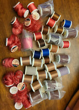 Mixed Lot of 38 Spools - Nylon Rod Winding Fly Tying Thread - mostly Gudebrod