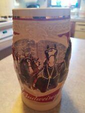 Budweiser Bud AB Anheuser Busch 2015 Christmas Holiday annual series stein NIB