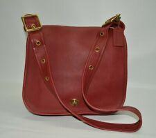 Coach Vintage Stewardess Red Large Turnlock Flap Shoulder Bag 9525