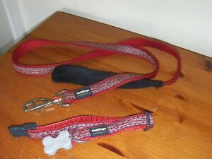 RED DINGO DOG COLLAR with MATCHING LEAD~ UNION JACK~ (20mm x 31-47cm) Size M