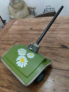 Vintage Sears Carpet Sweeper retro vacuum broom cleaning